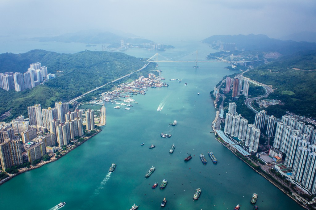Aerial view victoria Harbour